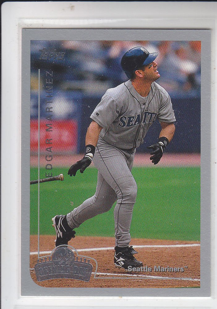 Edgar Martinez Trading Card Single 1999 Topps Opening Day #100 Mariners