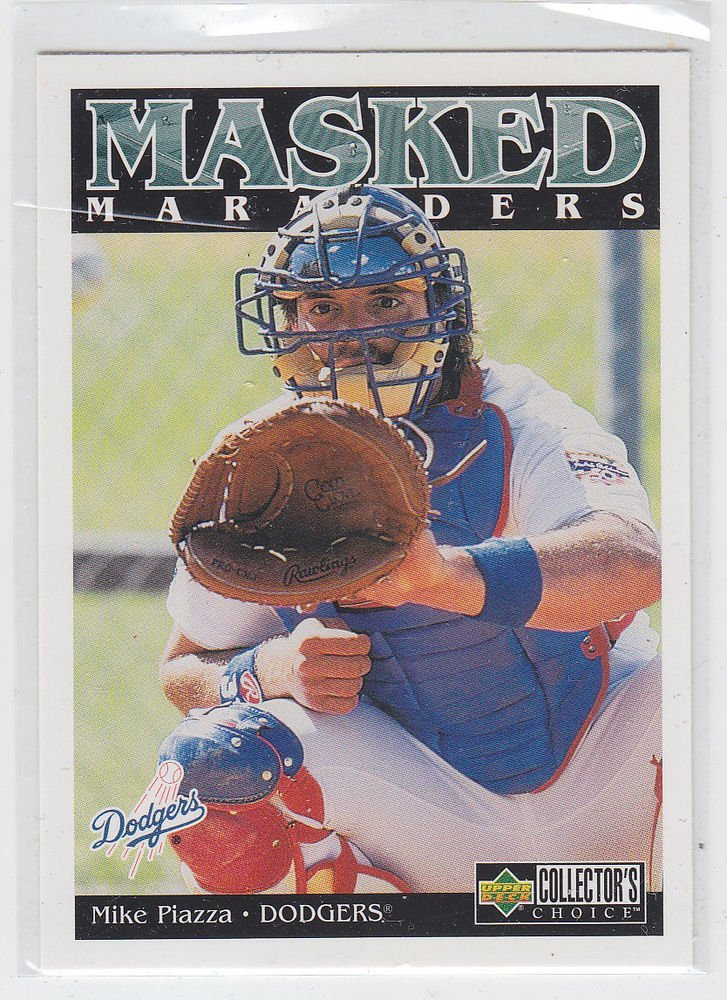 Mike Piazza Masked Marvels Trading Card 1998 Collector's Choice #185 Dodgers