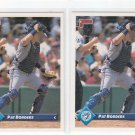 Pat Borders Trading Card Lot of (2) 1993 Donruss #115 Blue Jays