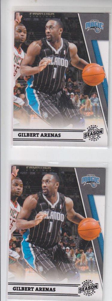 Gilbert Arenas Lot of (2) 2011-12 Panini Season Update #98 Magic