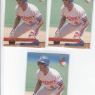 Delino Deshields Trading Card Lot of (3) 1993 Fleer Ultra #66 Expos