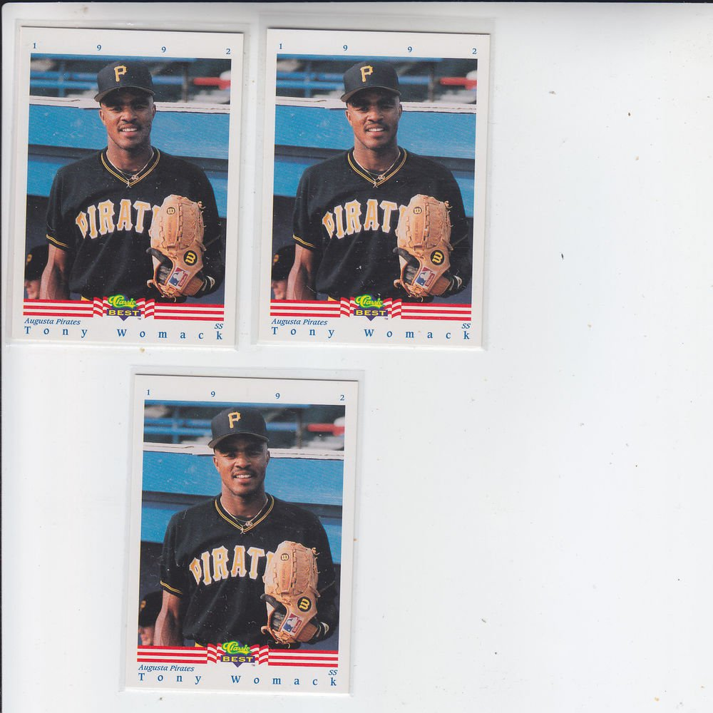 Tony Womack Trading Card Lot of (3) 1992 Classic/Best #385 Pirates