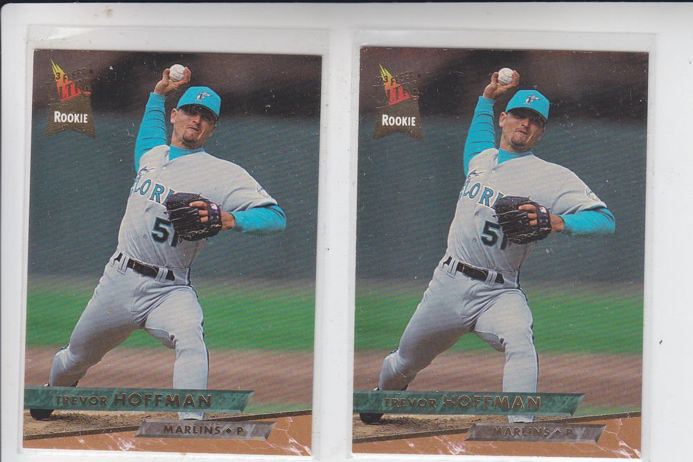 Trevor Hoffman Trading Card Lot of (2) 1993 Fleer Ultra #378 Marlins