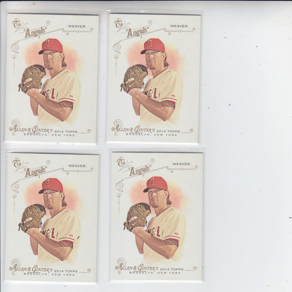 Jered Weaver Trading Card Lot of (4) 2014 Topps Allen & Ginter #203 Angels