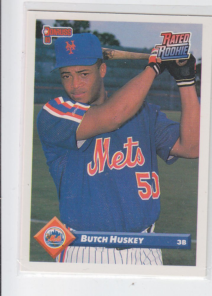 Butch Huskey Rated RC Trading Card Single 1993 Donruss #506 Mets