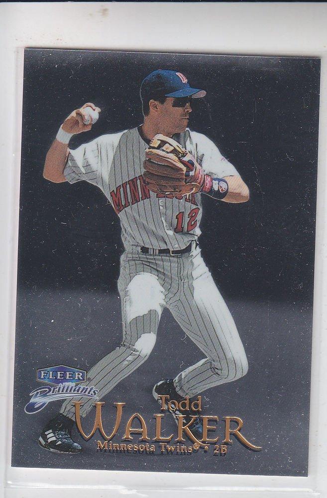 Todd Walker Trading Card Single 1999 Fleer Briliants #52 Twins