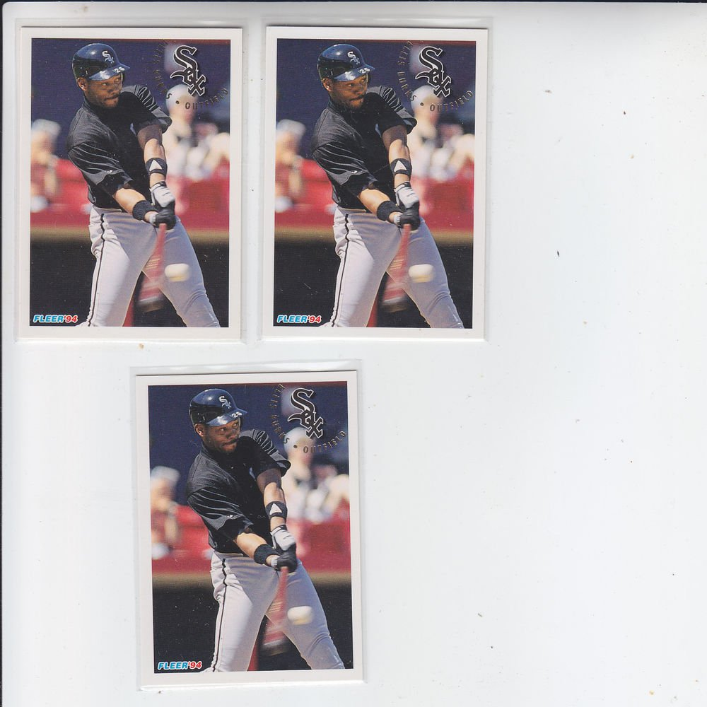 Ellis Burks Trading Card Lot of (3) 1994 Fleer #75 White Sox
