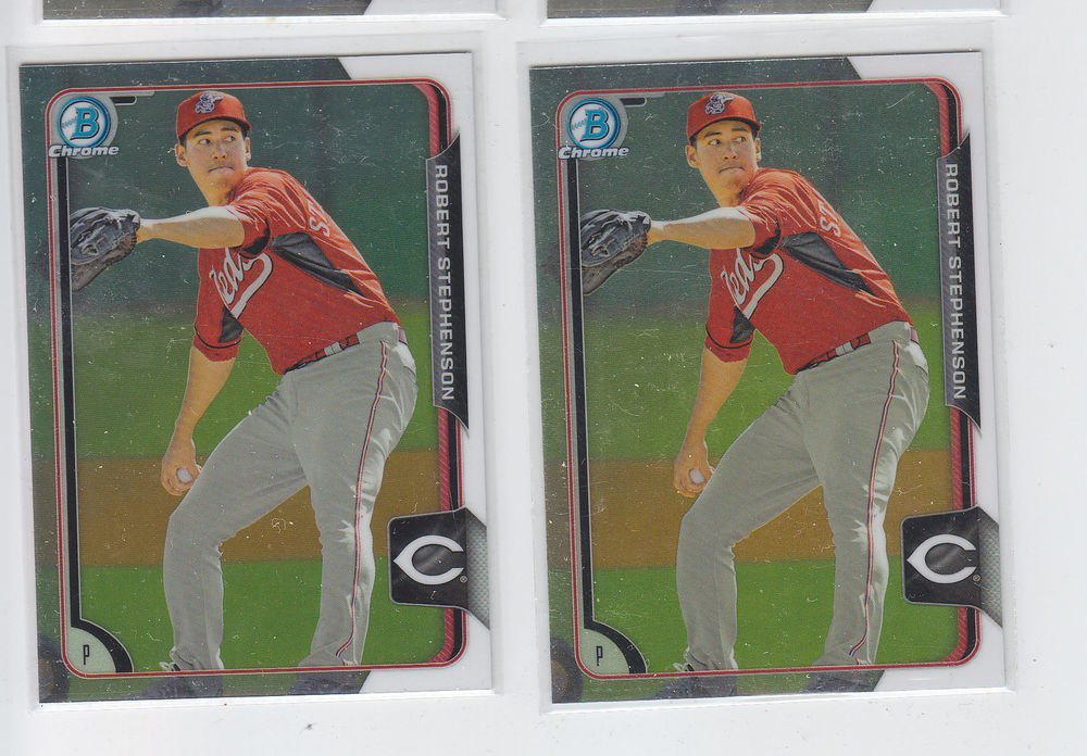 Robert Stephenson Lot of (2) 2015 Bowman Chrome #BC44 Reds