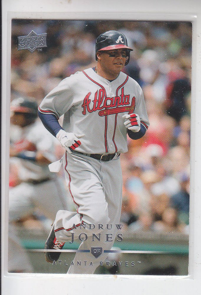 Andruw Jones Trading Card Single 2008 Upper Deck #50 Braves
