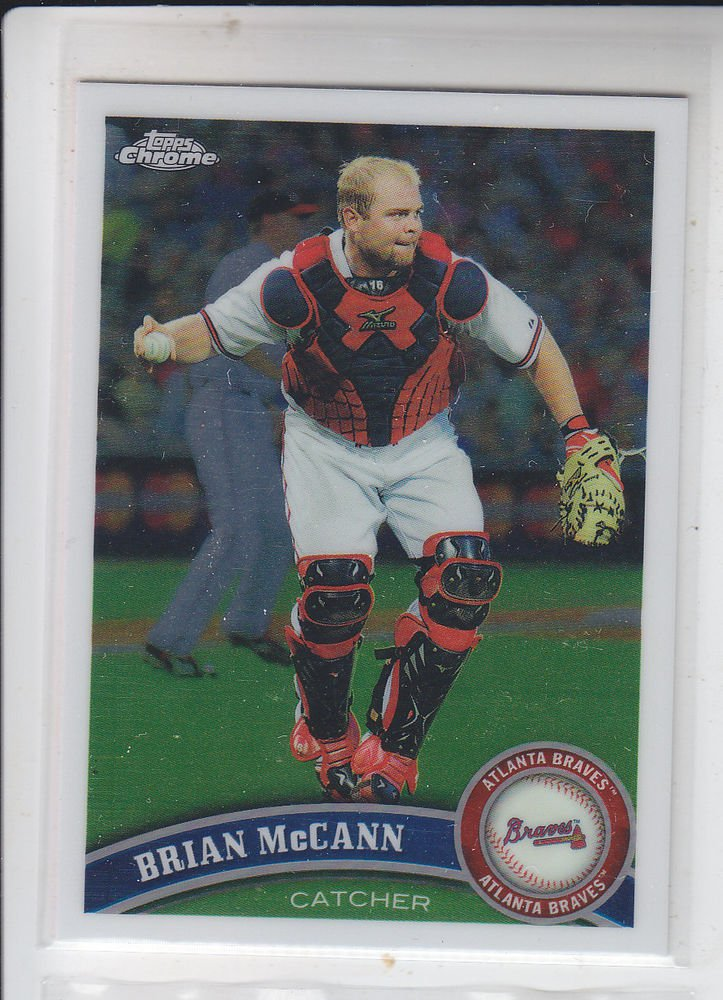 Brian McCann Trading Card Single 2011 Topps Chrome #72 Braves Yankees