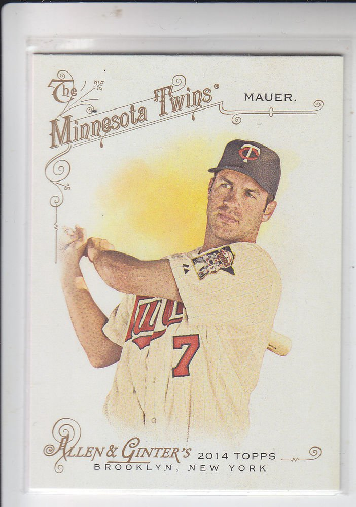 Joe Mauer Trading Card Single 2014 Topps Allen & Ginter #199 Twins