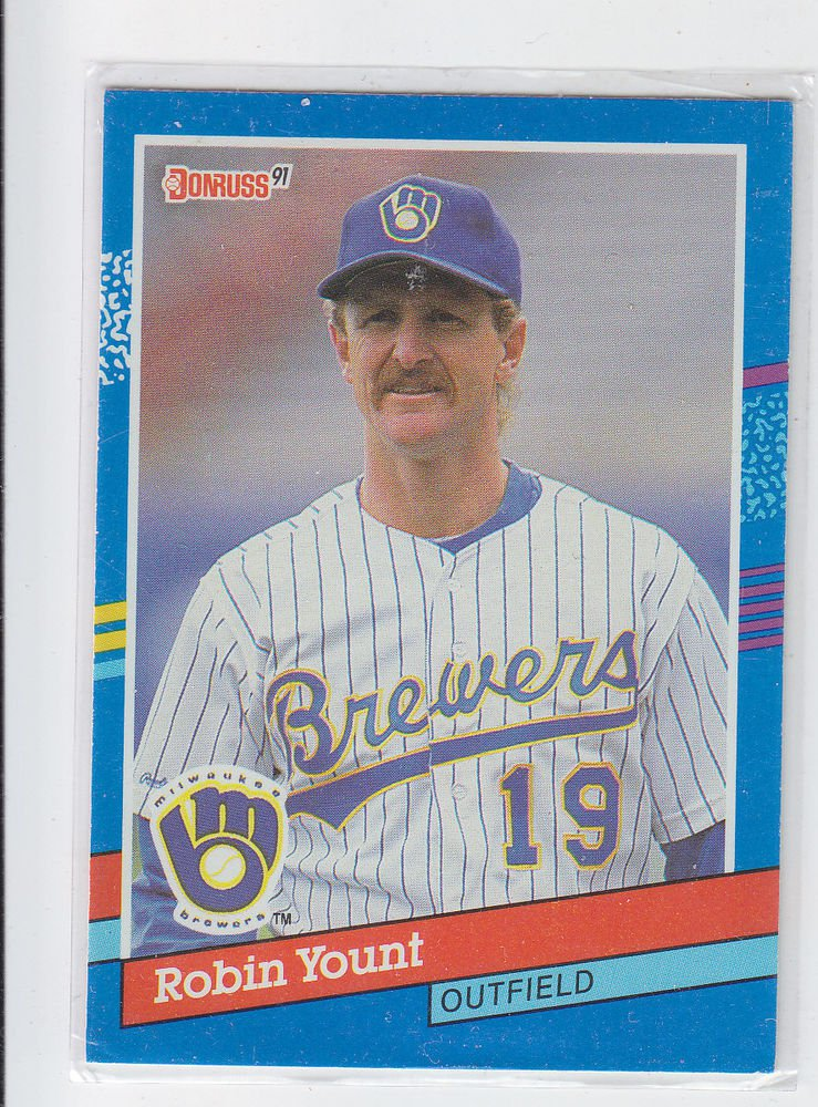 Robin Yount Trading Card Single 1991 Donruss #272 Brewers