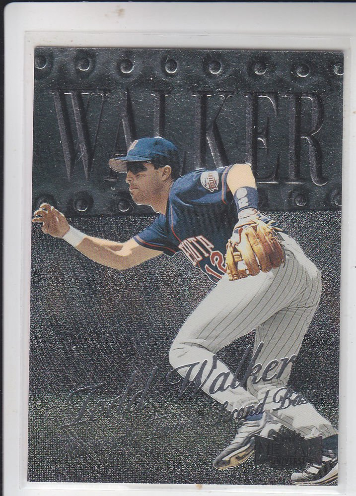 Todd Walker Trading Card Single 1999 Skybox Metal Universe #16 Twins