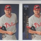 Mark Lewis Trading Card Lot of (2) 1999 Fleer Tradition #518 Reds