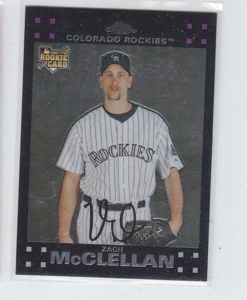 Zach McClellan RC Trading Card Single 2007 Topps Chrome #278 Rockies