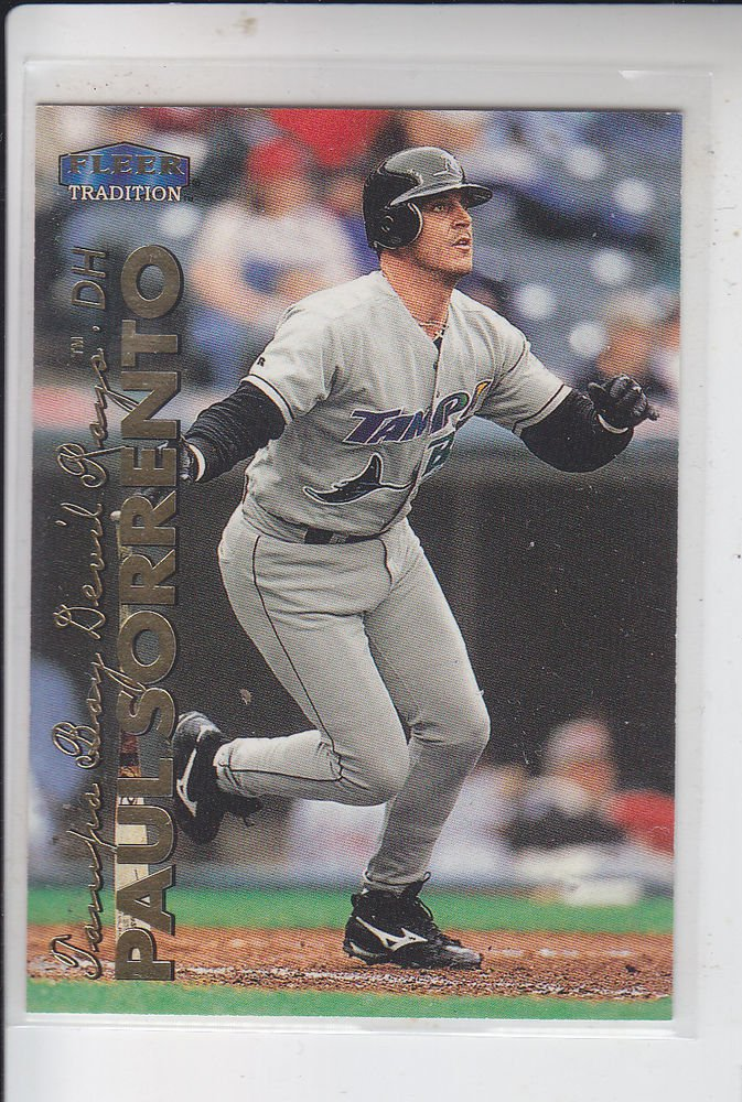Paul Sorrento Trading Card Single 1999 Fleer Tradition #258 Rays