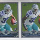 Joseph Randle Lot of (2) 2012 Topps Chrome RC #29 Cowboys