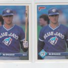 Ed Sprague Trading Card Lot of (2) 1993 Donruss #219 Blue Jays