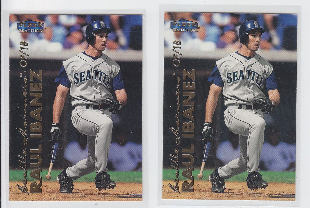 Raul Ibanez Trading Card Lot of (2) 1999 Fleer Tradition #468 Mariners