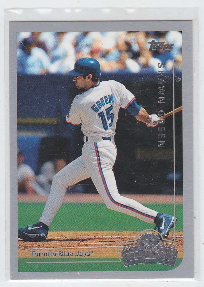 Shawn Green Trading Card 1999 Topps Opening Day #63 Blue Jays