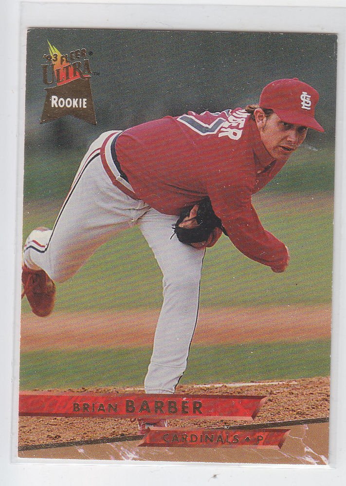 Brian Barber Trading Card Single 1993 Fleer Ultra #461 Cardinals