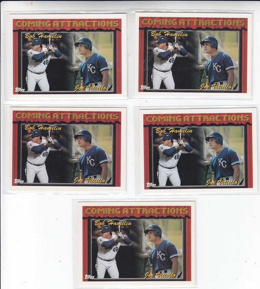 Joe Vitello Bob Hamelin Trading Card Lot of (5) 1994 Topps #769 Royals