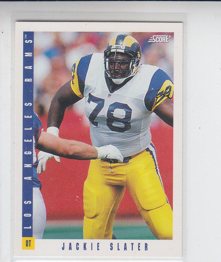 Jackie Slater Trading Card Single 1992 Score #214 Rams