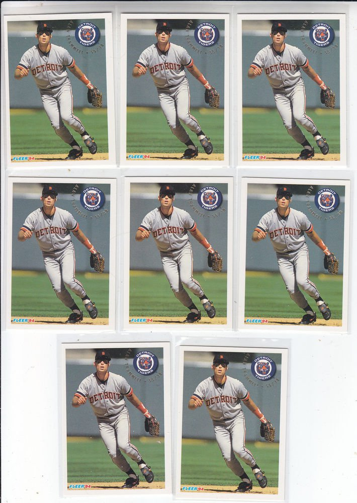 Lou Whitaker Trading Card Lot of (8) 1994 Fleer #146 Tigers