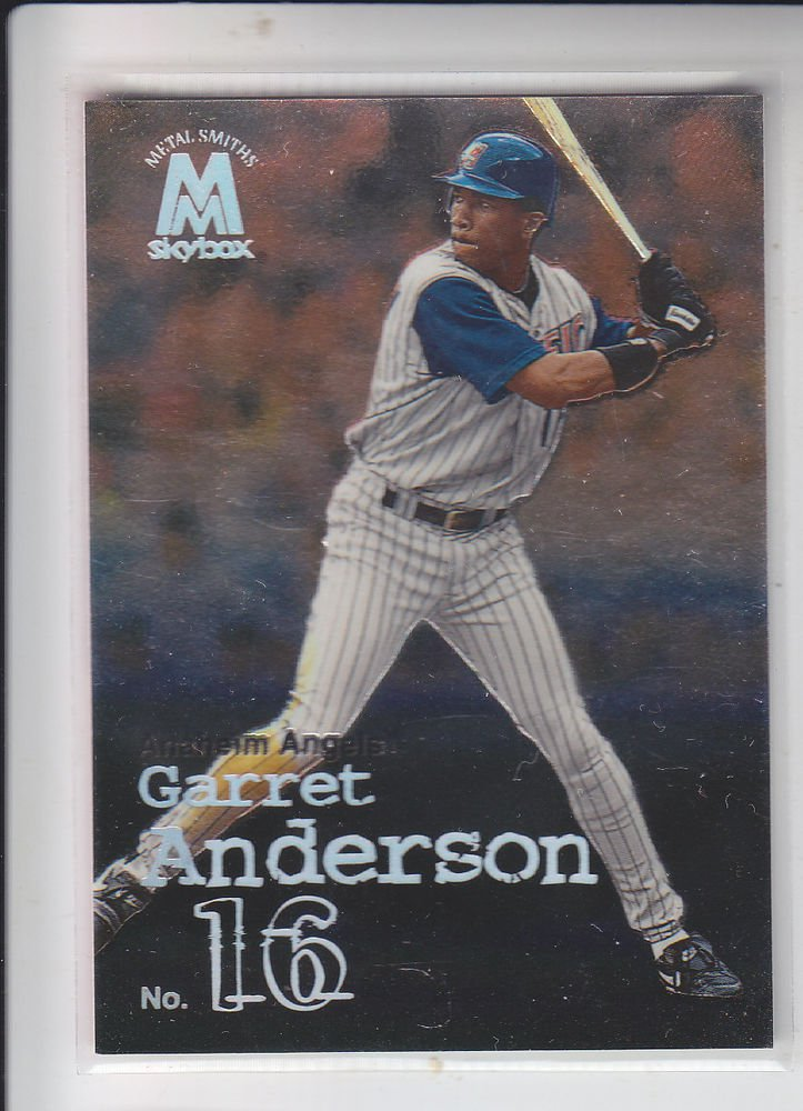 Garret Anderson Trading Card Single 1999 Skybox Molten Metal #58 Angels