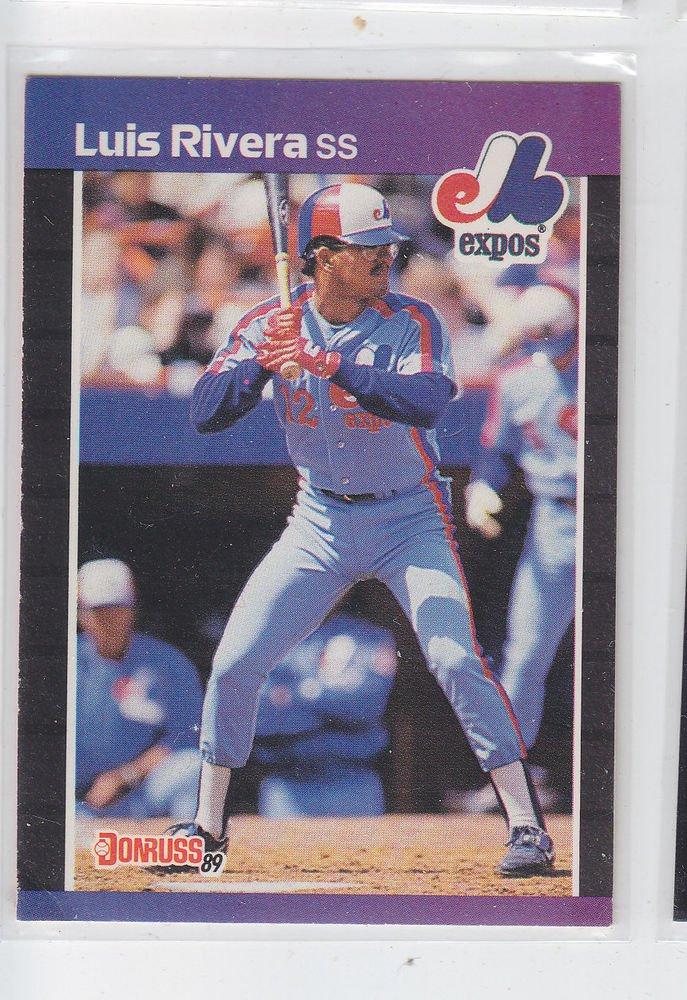 Louis Rivera Trading Card Single  1989 Donruss #578 Expos DP UER - Wrong B/Date