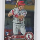 Chris Pettit RC Trading Card Single 2011 Topps Chrome #204 Angels