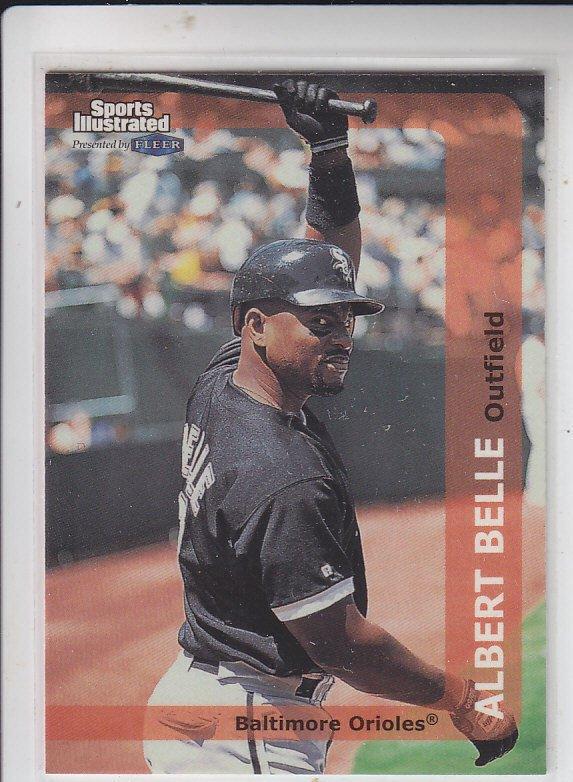 Albert Belle Trading Card Single 1999 Fleer Sports Illustrated #114 Indians