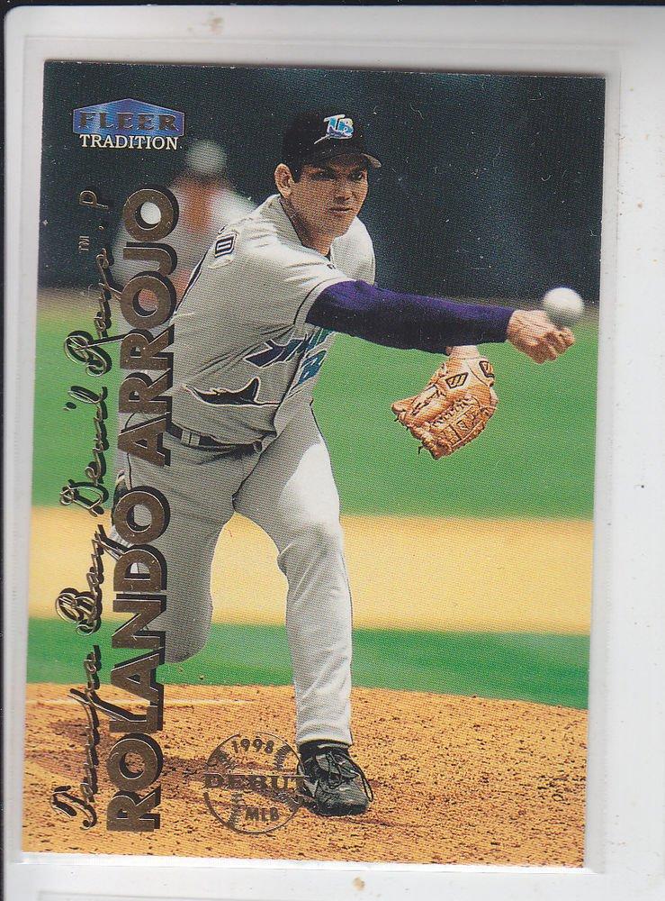 Rolondo Arrojo Trading Card Single 1999 Fleer Tradition #77 Rays