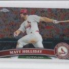 Matt Holliday Trading Card Single 2011 Topps Chrome #130 Cardinals