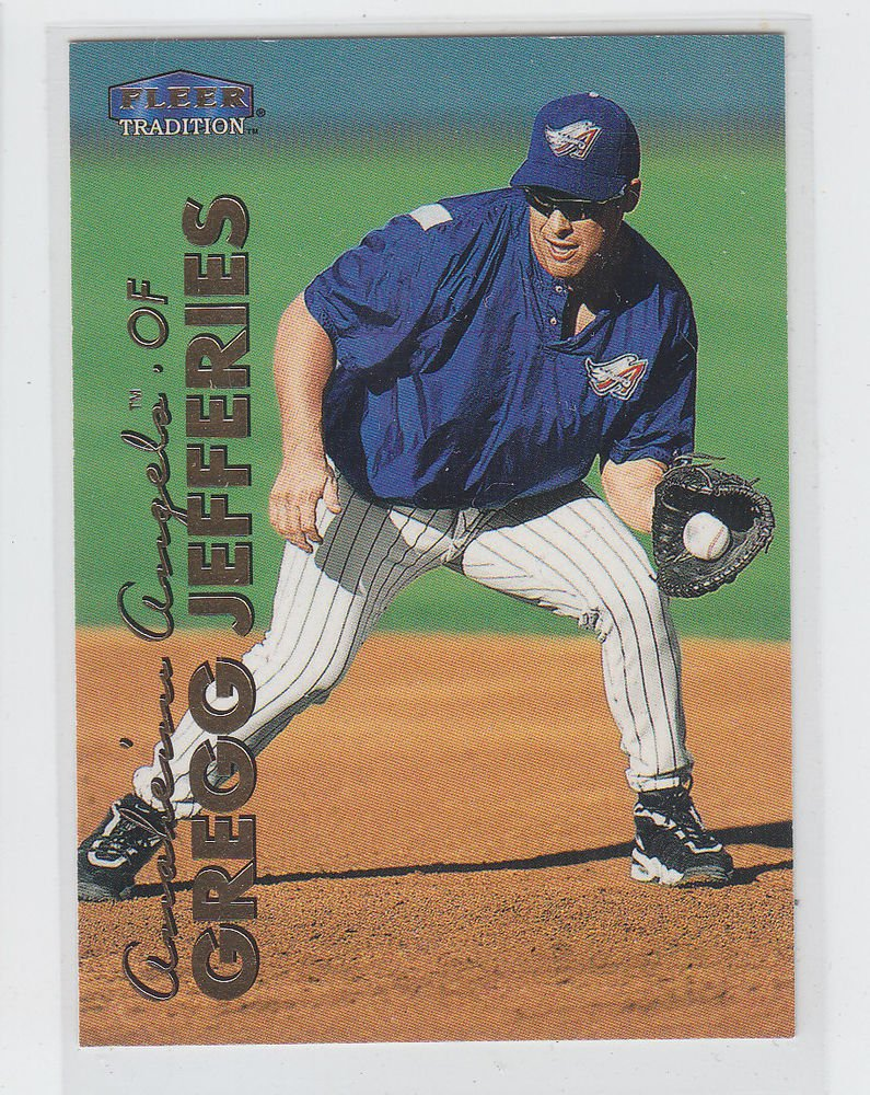 Gregg Jefferies Trading Card Single 1999 Fleer Tradition #497 Angels