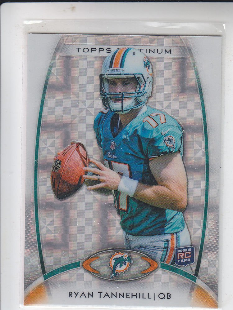 Ryan Tannehill XFractor 2012 Topps Platinum #110 Dolphins Sharp - No Print Lines