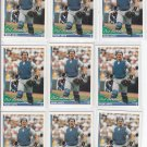 Pat Borders Trading Card Lot of (9) 1994 Topps #219 Blue Jays