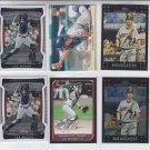 Joe Mauer Lot of (6) 2009 Finest x2, 2008 Bowman, 07 Topps & Topps Chrome Twins