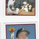 Mark McGwire Oversize Trading Card Lot of (2) 1989 Bowman #197 Athletics