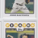 Jose Bautista Trading Card Lot of (2) 2008 Topps #158 Pirates