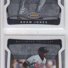 Adam Jones Trading Card Lot of (2) 2009 Topps Finest #71 Orioles