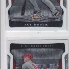 Jay Bruce Trading Card Lot of (2) 2009 Topps Finest #100 Reds
