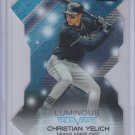 Christian Yelich Luminous Triumvirate Die Cut 2015 Topps Stadium Club Marlins
