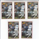 Gary Carter Trading Card Lot of (5) 1989 Bowman #379 Mets