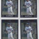 Matt Kemp Trading Card Lot of (4) 2007 Topps Chrome #159 Dodgers