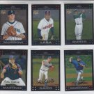 2007 Topps Chrome RC & Base Lot of (6) Saito Dukes Morrow Lara Zambrano Martinez