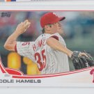Cole Hamels Trading Card Signle 2013 Topps #332 Phillies