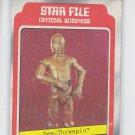 C-3P0 See-Threepio 1980 Lucasfilm Star File Official Business Trading Card #6 EX