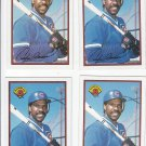 Andre Dawson Oversize Trading Card Lot of (4) 1989 Bowman #298 Cubs