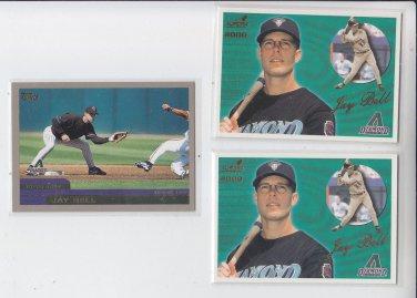 Jay Bell Lot of (3) 2000 Aurora #5 x2 2000 Topps #185 x1 Diamondbacks *BILL